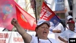 An anti-NATO protest in Odessa