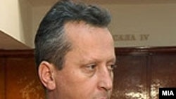Macedonia - Trajko Veljanovski president of the Macedonian Assembly, Skopje, 25Apr2009