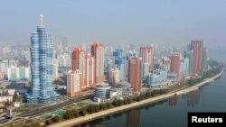 Вид на Пхеньян.