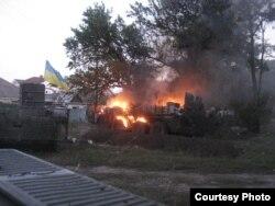 6 жовтня 2014 року міна потрапила у БТР, загорівся боєкомплект і вогонь перекинувся на машину