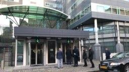 Ulaz u zgradu Specijalnog suda za ratne zločine na Kosovu u Hagu