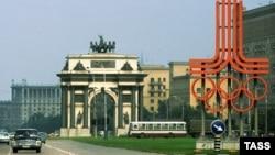 Олимпиада алдындағы Кутузов проспектісі. Мәскеу, 8 шілде 1980 жыл.