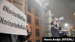 """Protest """"Novinari ne kleče"""""""