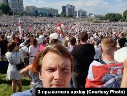 Віталь Алксяёнак у Менску ў жніўні 2020 году.