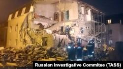 Дом в Красноярске после взрыва газа, архивное фото