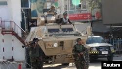 Афганские солдаты в городе Кундуз, 28 сентября 2015 года.