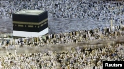 Muslim pilgrims circle the Kaaba at the Al-Masjid Al-Haram, known as the Grand Mosque, in Mecca during the 2011 hajj.