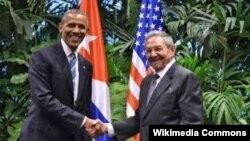 Obama i Raul Kastro u Havani prošle sedmice