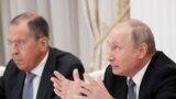 Wladimir Putin 2-nji fewralda daşary işler ministri Sergeý Lawrow, goranmak ministri Sergeý Şoýgu bilen duşuşdy. Arhiw suraty