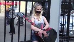 Протест уличных музыкантов на Арбате 28 июня против московских властей