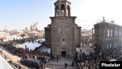 Armenia - Thousands of people attend the funeral of 6-month-old Seryozha Avetisian, Gyumri, 21Jan,2015