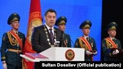 Қирғизистоннинг янги президенти Садир Жапаров, Бишкек, 2021 йил 28 январи