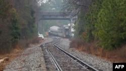 На месте железнодорожной катастрофы