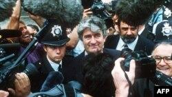 Лідер боснійських сербів Радован Караджич після лондонської конференції з Югославії, 26 серпня 1992 року