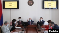 Armenia - The Central Election Commission meets in Yerevan, May 11, 2021.