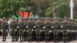 Soldați ruși la Tiraspol, la parada de 9 mai, 2017