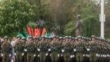Российские солдаты на параде в Тирасполе, 9 мая 2017