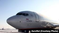 """Один из самолетов Boeing компании """"Аэрофлот""""."""