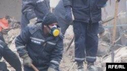 Рятувальні роботи на місці вибуху