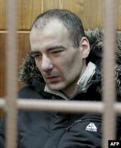 Василий Алексанян на скамье подсудимых в Мосгорсуде. 5 февраля 2008 года