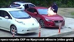 Поджог автомобиля с девочкой