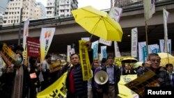 Демонстрация сторонников продемократического движения. Гонконг, 1 февраля 2015 года.