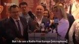 "Maria Zaharova: ""Văd microfonul Europei Libere"""