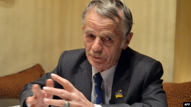 """The last time I saw my wife we had to meet in a neutral zone,"" says Crimean leader Mustafa Dzhemilev (pictured) ""I couldn't see my family and was isolated during the Soviet era as well, and now history is repeating itself to an extent."""