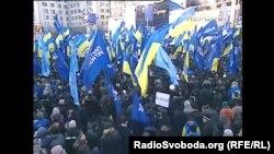 Акция в Киеве в поддержку Партии регионов, 14 декабря 2013 года