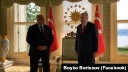 Бойко Борисов и Реджеп Тайип Ердоган по време на срещата им в събота