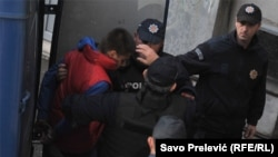 Черногорияда ұсталған Сербия азаматтары. Подгорица, 16 қазан 2016 жыл.