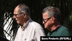 Mihailo Banjević (desno) i njegov advokat Tomislav Dedić, Podgorica
