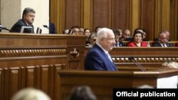 Президент Ізраїлю Реувен Рівлін під час виступу в парламенті України. Київ, 27 вересня 2016 року