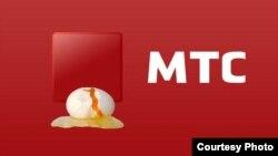 O'zbekistondagi faoliyati to'xtatilganidan so'ng MTS shirkati logosiga chizilgan karikatura.