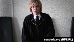 Суд над Васілём Парфянковым. На фота — судзьдзя Вольга Комар