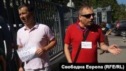 """Явор Стаматов (вляво) и Николай Петров от програма """"Хоризонт"""" на БНР"""