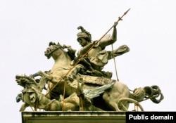 Скульптура Йогана Ґеорґа Пінзеля «Святий Юрій Змієборець»