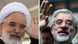 Opposition figures Mir Hossein Musavi (right) and Mehdi Karrubi want to hold a rally on February 14.