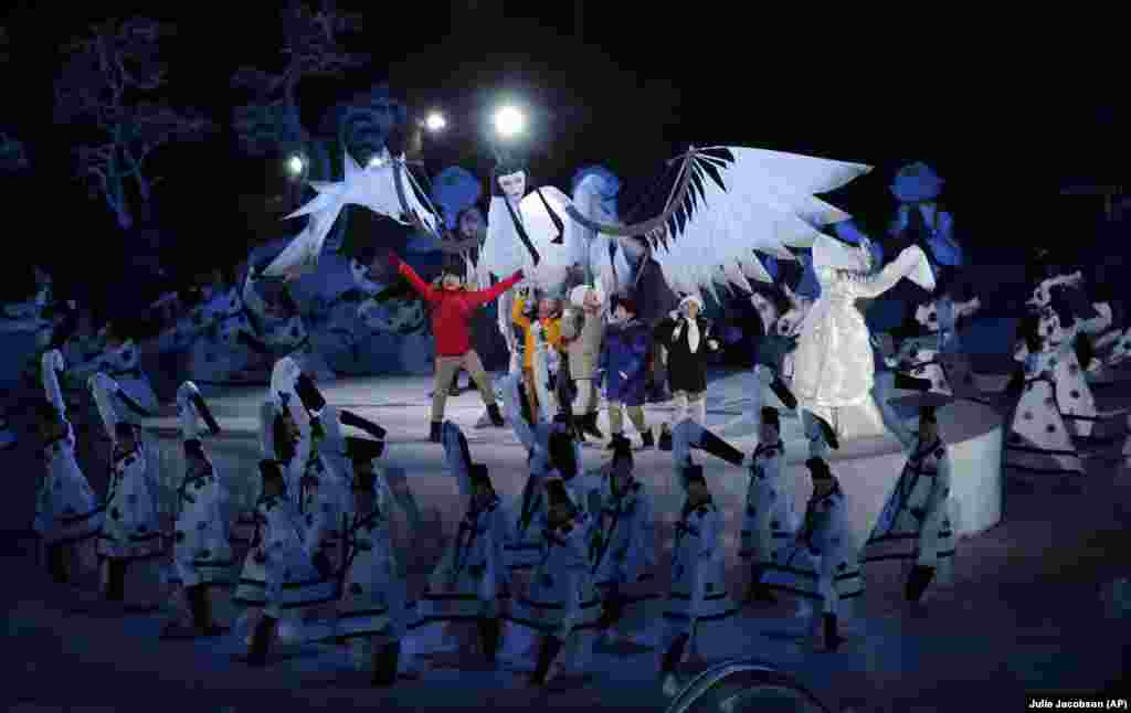 Children performing during the opening ceremony.