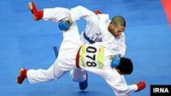 کاراتهکای ایرانی در مسابقات جهانی بزرگسالان کاراته در کشور فرانسه. ۲۰۱۲.