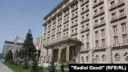 Здание министерства иностранных дел Таджикистана в столице Душанбе. 1 августа 2014 года.