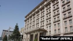 Здание МИД Таджикистана.