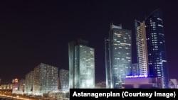 Astana at night
