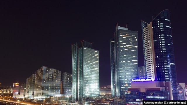 Astana at night