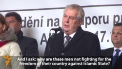 Czech President Warns Against 'Culture Of Murderers' At Anti-Islam Protest