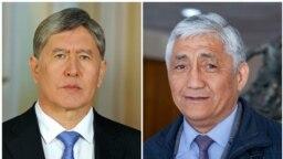 Алмазбек Атамбаев жана Сагынбек Абдрахманов.