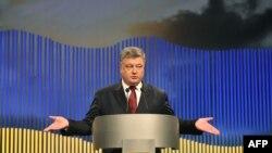 Петр Порошенко на пресс-конференции в Киеве 14 января