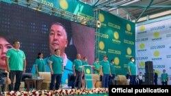 "Съезд партии ""Кыргызстан"". 20 августа 2020 года."
