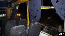 Талкаланган автобус