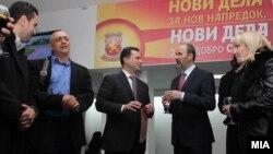 Архивска фотографија: Отворена канцеларија за комуникација со граѓаните на кандидатот за градоначалник на Град Скопје од редовите на ВМРО-ДПМНЕ Коце Трајановски.